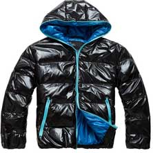 Черная Молодежная Зимняя Куртка Z-1201