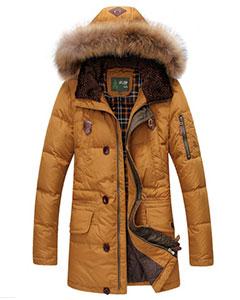 Оранжевая Мужская Зимняя Куртка на Пуху JEEP Z-1307