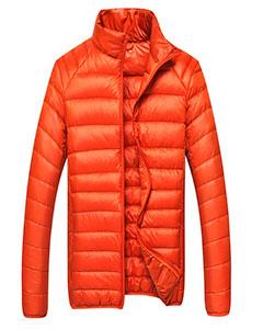 Оранжевый Мужской Пуховик Z-1309