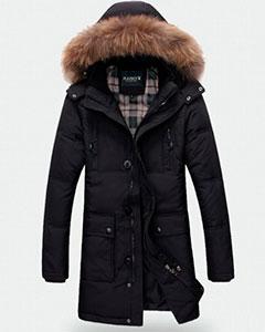 Мужская Зимняя Куртка Черная Z-1314