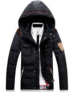 Черная Зимняя Куртка на Парня Z-1318