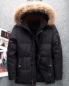 Черная Мужская Куртка на Зиму Z-1336