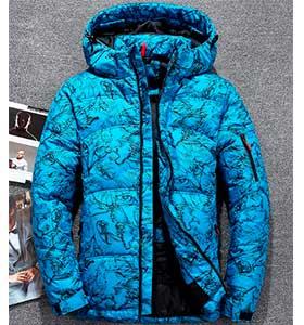 Светлая Мужская Куртка Зимняя Z-1342