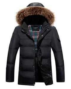 Зимняя Куртка с Меховым Капюшоном Z-1362