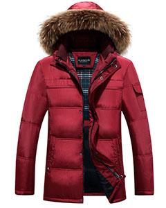 Мужская Красная Зимняя Куртка Z-1263