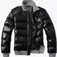 Черная Мужская Зимняя Куртка Z-1242