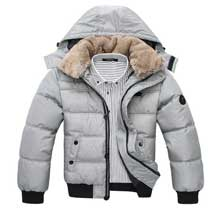 Серая Зимняя Мужская Куртка Z-1277